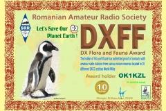 DXFF 10 M 2016 OK1KZL