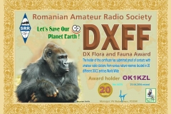 DXFF 20 M 2016 OK1KZL N175